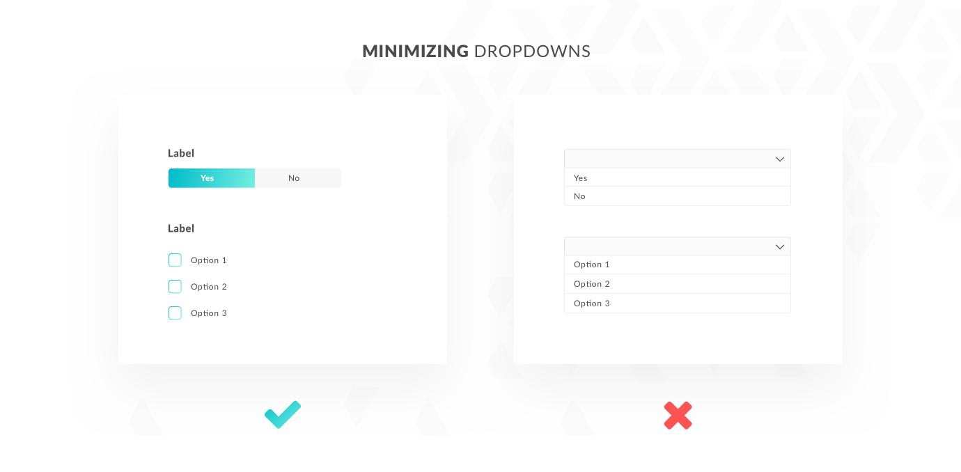 Minimizing dropdowns