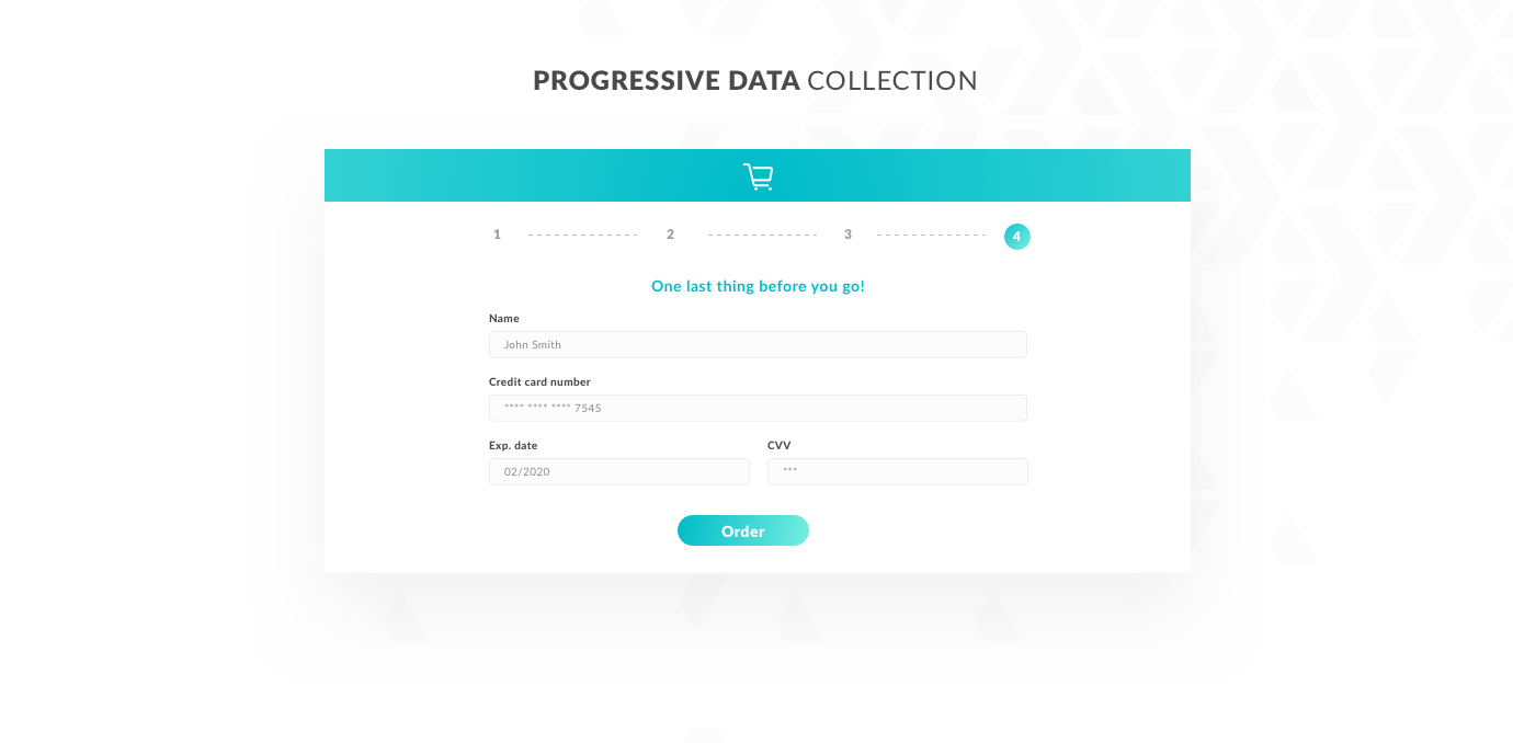 Progressive data collection