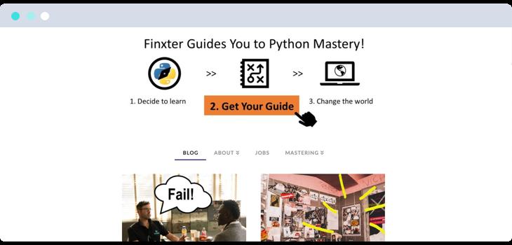 Finxter blog website screenshot