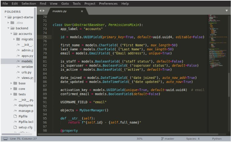 Sublime Text interface window with code