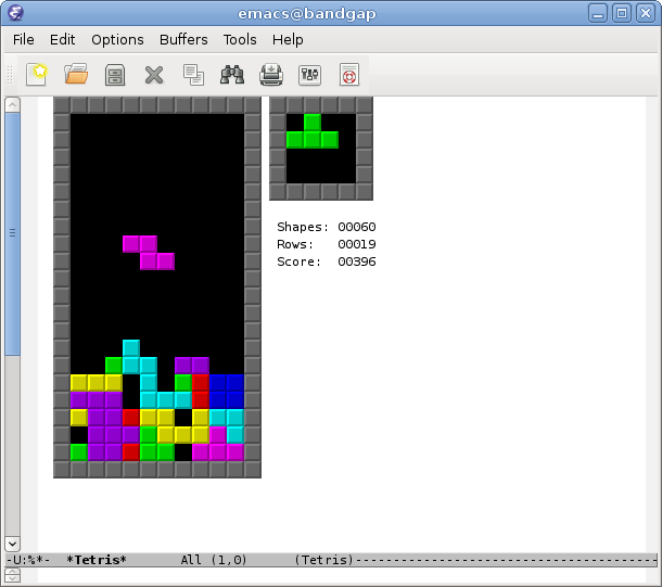 You can play Tetris in Emacs