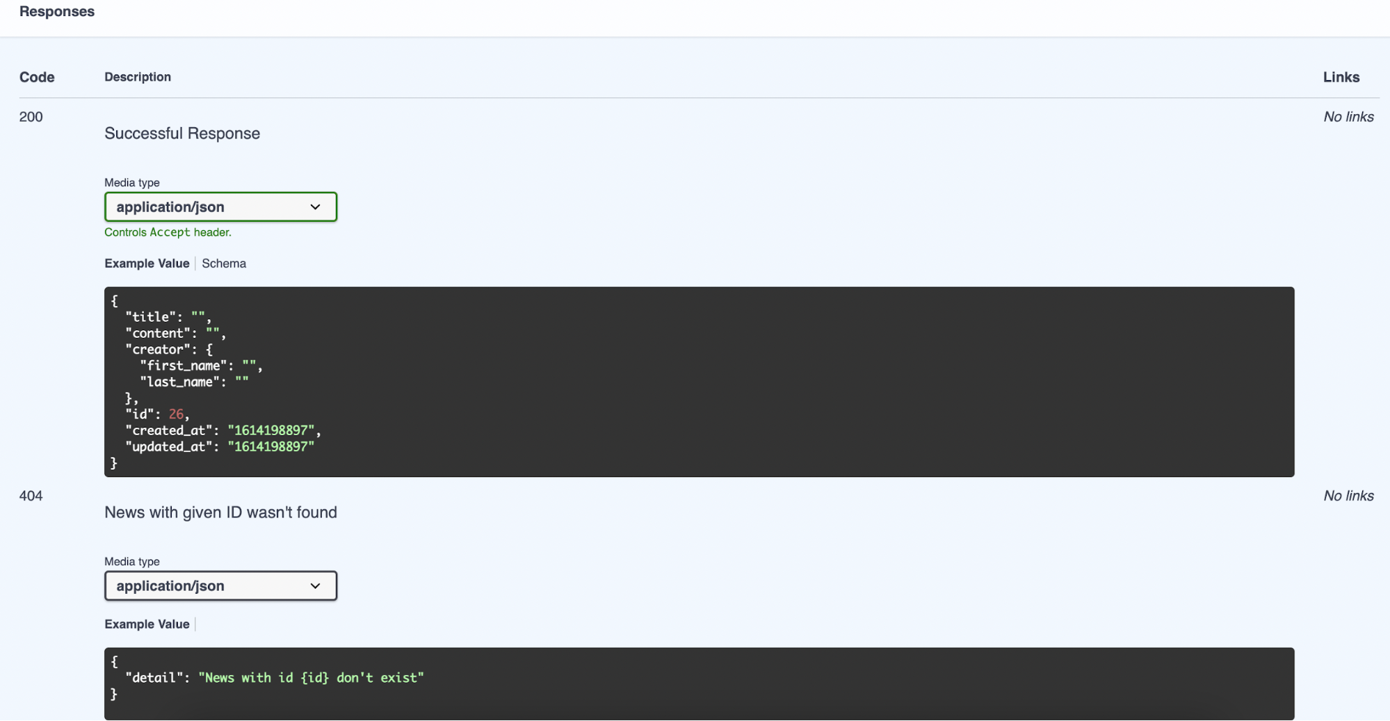 Automatic documentation - docstring 2