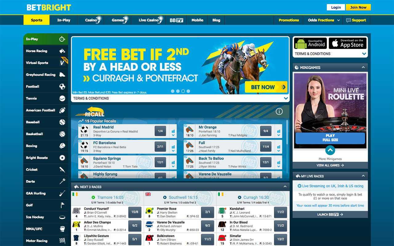 Irish Bookmaker Project using Python Twisted and Angular - BetBright - Case Study