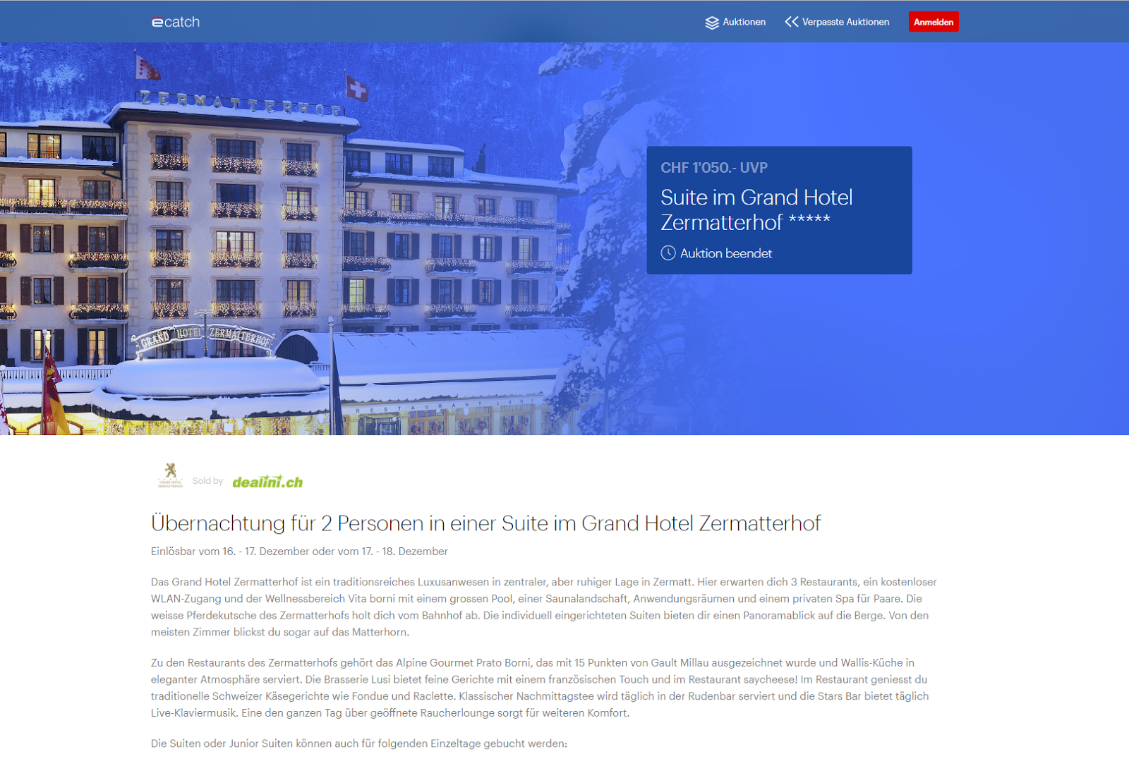 Auctions-based market research site - Swiss ecommerce project - Dealini - Case Study