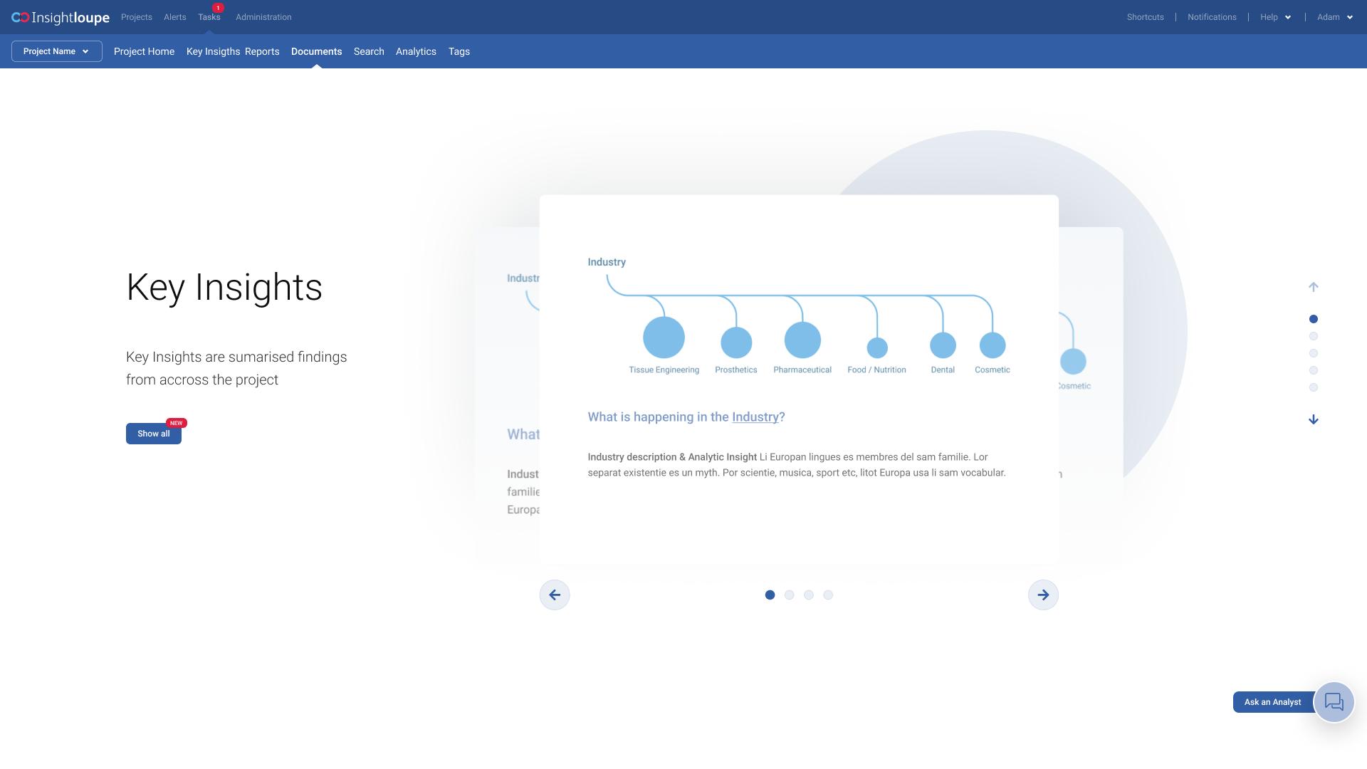 UX/UI Redesign, Scrum best practices implementation - Evalueserve - Case Study