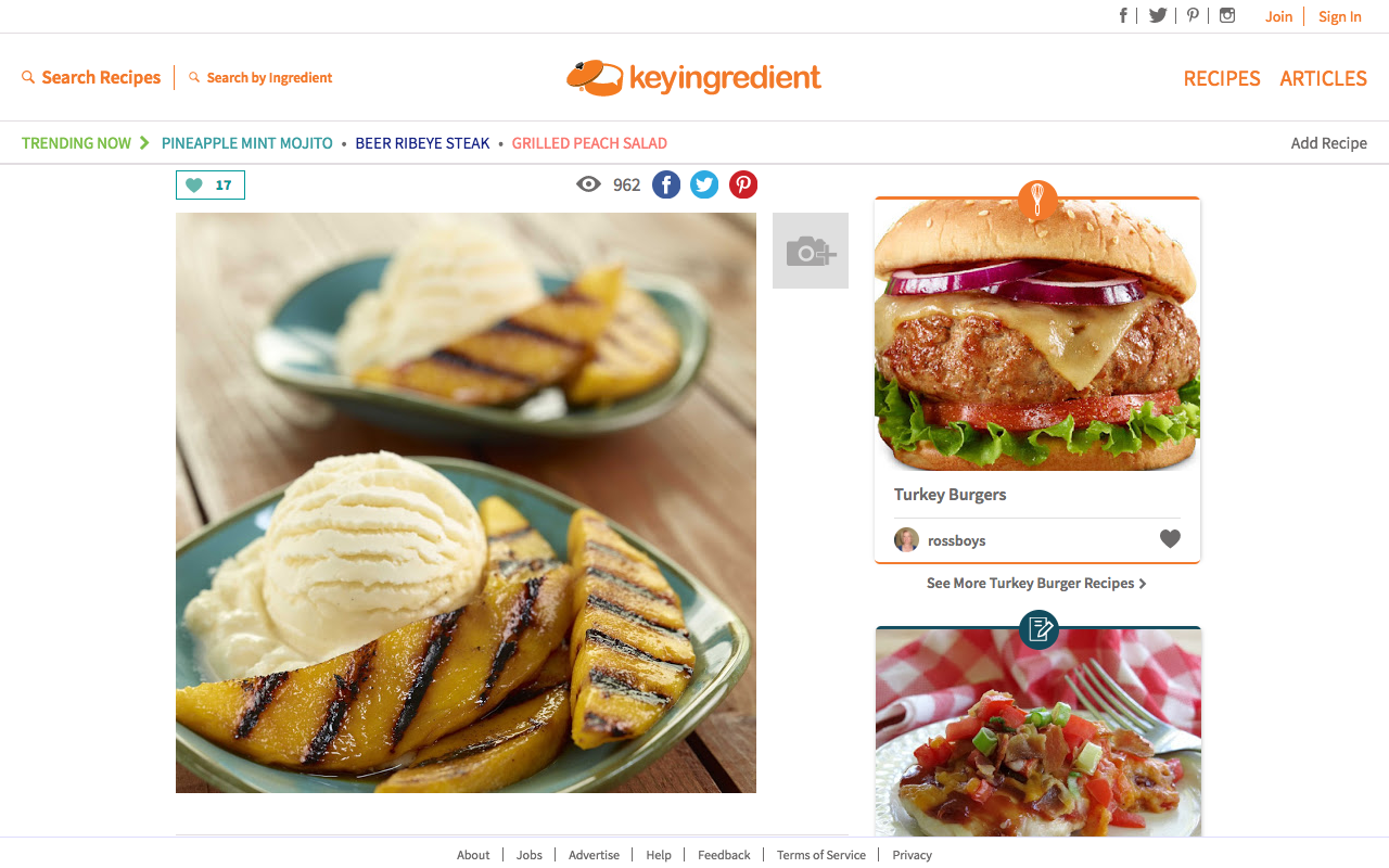 US Recipe Website Project using Python, Django and Node.js - KeyIngredient - Case Study