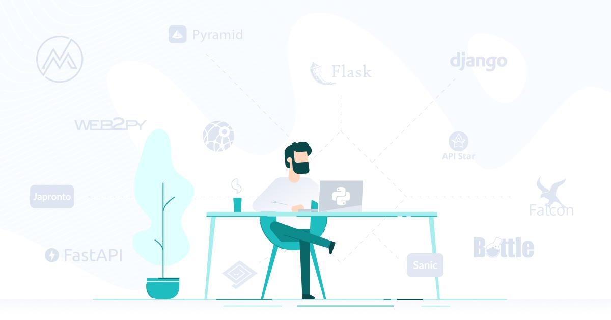 python web frameworks graphic
